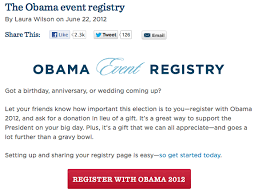 wedding registry donations because nothing says wedding present like a donation to obama s