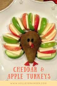 kid friendly turkey appetizer with pears apples u0026 cheddar