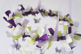 Purple Butterfly Decorations Butterfly Mobile In Purple Lavender Green U0026 White Photography