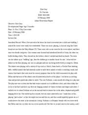 DFST        INTRO TO EARLY CHILDHOOD ED   UNT   Course Hero   pages Infant  Preschool Observation Essay     Free Essays and Papers