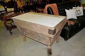 antique french kitchen island oak primitive butcher block table