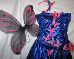 Blue Butterfly Halloween Costume Pink Butterfly Dress Etsy