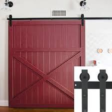 Metal Sliding Barn Doors 10ft Country Barn Wood Steel Sliding Door Hardware Closet Set
