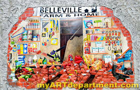 exterior wall mural belleville kansas exterior mural crashed wall