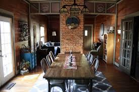 Navy Bistro Chairs Dining Room With High Ceiling U0026 Hardwood Floors In Atlanta Ga