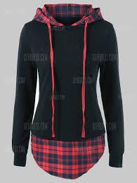 drawstring plaid plus size hoodie classified ad clothing saint