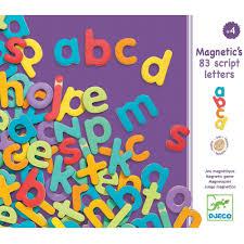 djeco magnetic alphabets letters 83 script letters
