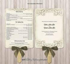 Diy Wedding Program Fans Template Wedding Program Fan Template Free Paddle Fan Program Tina We