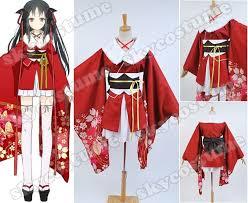 Sakura Halloween Costume Unbreakable Machine Doll Yaya Sakura Kimono Dress Suit Anime