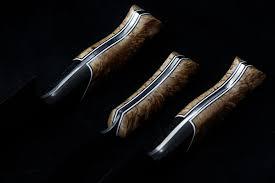custom kitchen knives custom 3 kitchen set san mai damascus bladeforums