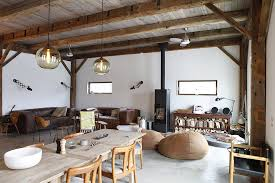 Lighting For Beamed Ceilings Open Beamed Ceiling Designs Living Room Rustic With Leather Sofa