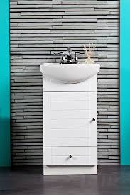 Narrow Bathroom Sinks And Vanities by Small Bathroom Vanity Cabinet And Sink White Pe1612w New Petite