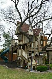 Tree House Home Treehouse Inspiration Challenge Accepted Playhouse Yard