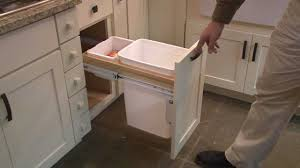 Kitchen Cabinet Bin Kitchen Cabinet Pull Out Wastebasket By Cliqstudios Com Youtube
