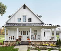 new farmhouse plans a wrap around porch makes the house look bigger pinteres