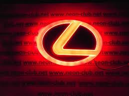 lexus es300 logo 4d lexus red neon logo