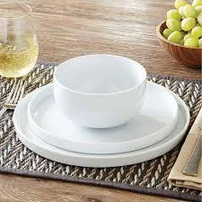 modern kitchen plates better homes and gardens modern rim 12 piece dinnerware set white