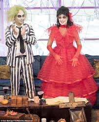 lydia beetlejuice wedding dress willoughby and phillip schofield are unrecognisable as