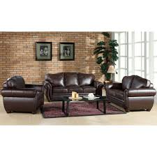 Abbyson Living Leather Sofa Sophie Top Grain Leather Sofa Loveseat And Armchair Set Sam U0027s Club