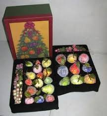 valerie parr hill sugared beaded fruit ornaments lot of 26 mixed