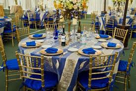 royal blue and gold wedding decorations 11