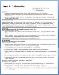 sample resume for entry level system administrator curriculum