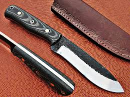 handmade kitchen knives hunting knives damascus steel game processing skinning knives uk