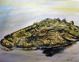 alligator art etsy