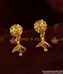 south indian jhumki trendy small design daily wear