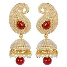 fancy jhumka earrings aabhu inspired pearl polki stylish fancy party wear