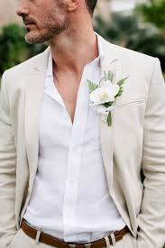 Orchid Boutonniere Picture Of Cream Suit White Shirt And An Orchid Boutonniere