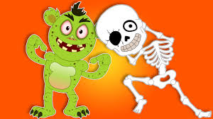 Halloween Cartoon Monsters head shoulder knees and toes funny halloween monsters for kids