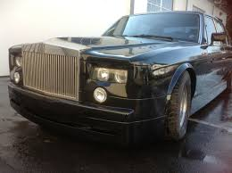 custom bentley 4 door original bentley turbo r with rolls royce phantom snout pegs the