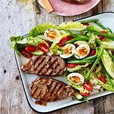 cuisine nicoise porterhouse steak nicoise salad recipe beefandlamb com au