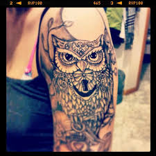 tattoos for owl quarter sleeve tattoos www 6tattoos com