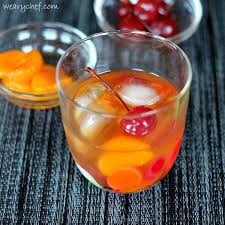 fashioned cocktail with mandarin oranges make it with