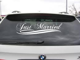 just married wedding car decoration vinyl decal sticker
