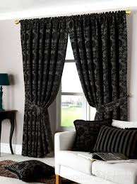 Thick Black Curtains Dulux Luxury Heavy Thick Cut Velvet Black Pencil Pleat Curtain