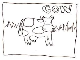 u du art cow coloring page
