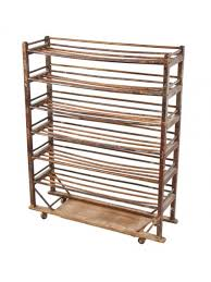 Bakers Rack With 2 Drawers Early 20th Century American Naturally Aged Oak Multi Tier Oak Wood