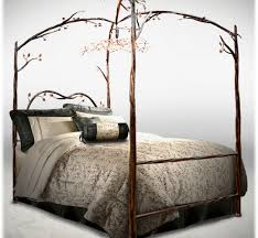 Tree Bed Frame Metal Canopy Bed Frame In Magnificent Retail King Size Metal