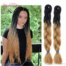 ombre human braiding hair two tone black brown jumbo braids tresse cheveux 24inch jumbo