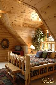 Log Cabin Bedroom Furniture by Double Eagle Deluxe Home Plan By Golden Eagle Log Homes