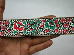 ribbon trim jacquard ribbon trim sari border decorative crafting ribbon a