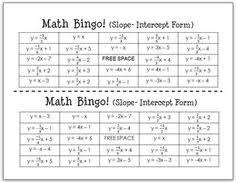 slope intercept form matching challenge puzzle all types of