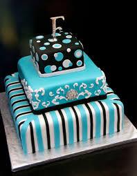 funky turquoise black white wedding cake u name it creative