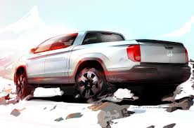 truck honda next generation honda ridgeline sketch shows new truck more clearly