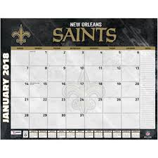 Flat Desk Calendar New Orleans Saints Home Decor Saints Furniture Saints Office
