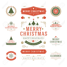 New Years Decorations Clearance by Christmas Labels And Badges Vector Design Decorations Elements