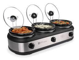 Side Buffet Server by Amazon Com Tru Triple Buffet Server With 3 2 1 2 Quart Oval
